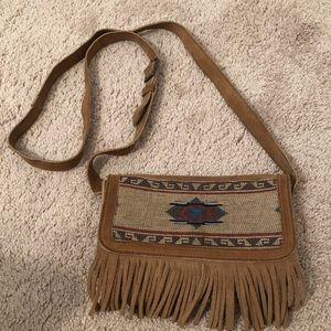Minnetonka boho Aztec fringe crossbody purse